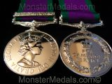 FULL SIZE CAMPAIGN / GENERAL SERVICE MEDAL WITH NORTHERN IRELAND CLASP CSM GSM REPLACEMENT COPY